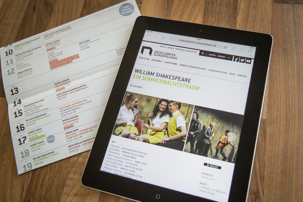 Düsseldorfer Schauspielhaus Website Design