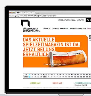 Düsseldorfer Schauspielhaus Website