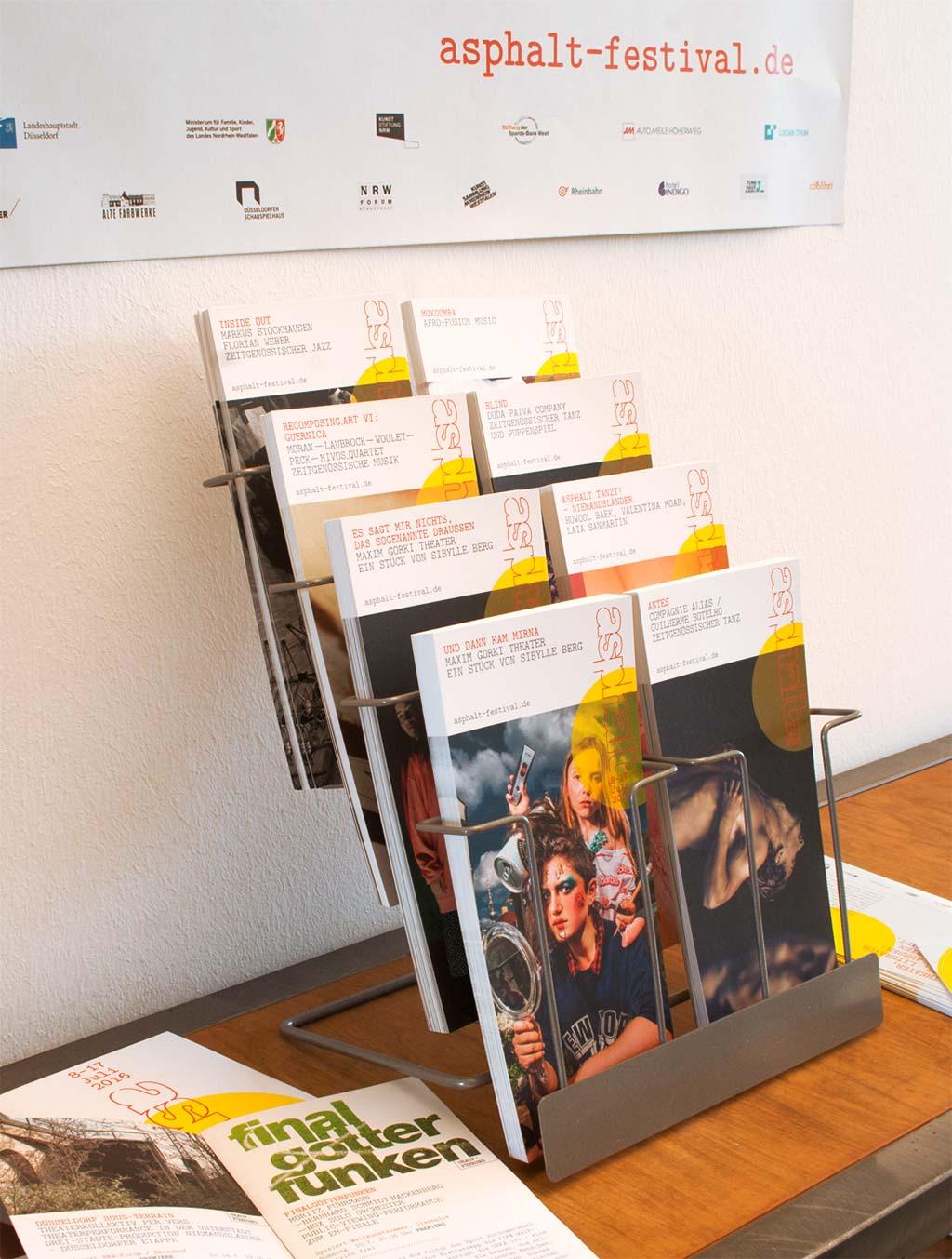 Asphalt 2016 Sommerfestival der Künste Düsseldorf postkarten