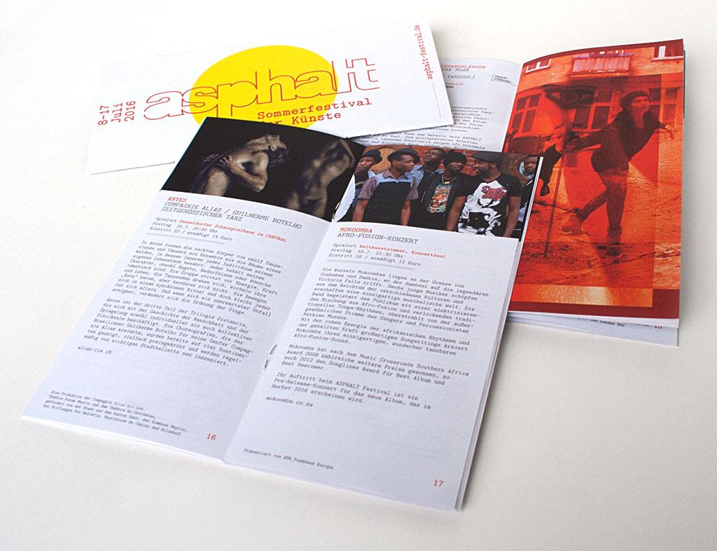 Asphalt 2016 Sommerfestival der Künste Düsseldorf broschüre