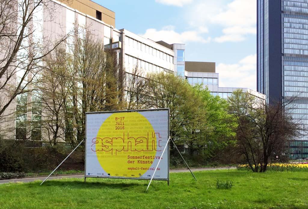 Asphalt 2016 Sommerfestival der Künste Düsseldorf plakat