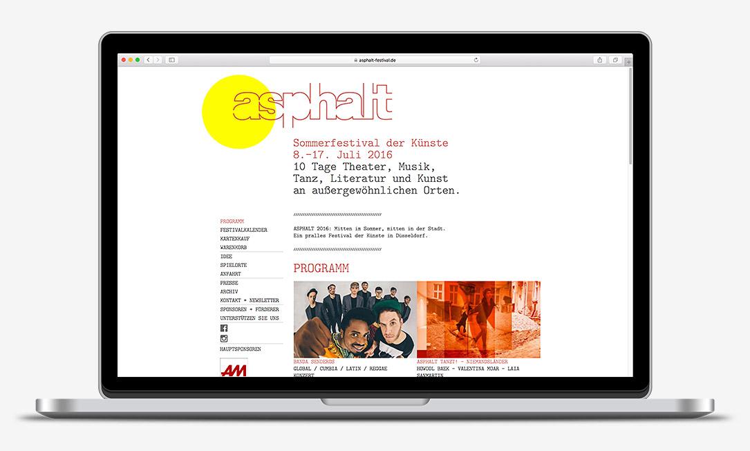 Asphalt 2016 Sommerfestival der Künste Düsseldorf website