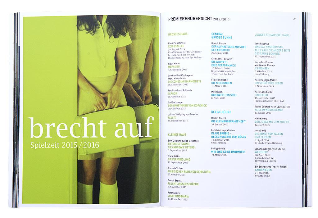 Düsseldorfer Schauspielhaus Abschiedsbuch